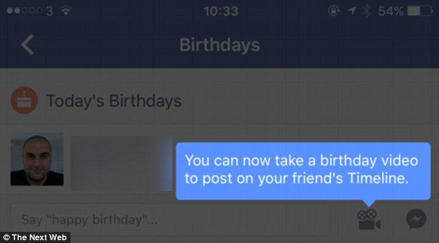 FB birthdays, Facebook birthday alarm, events