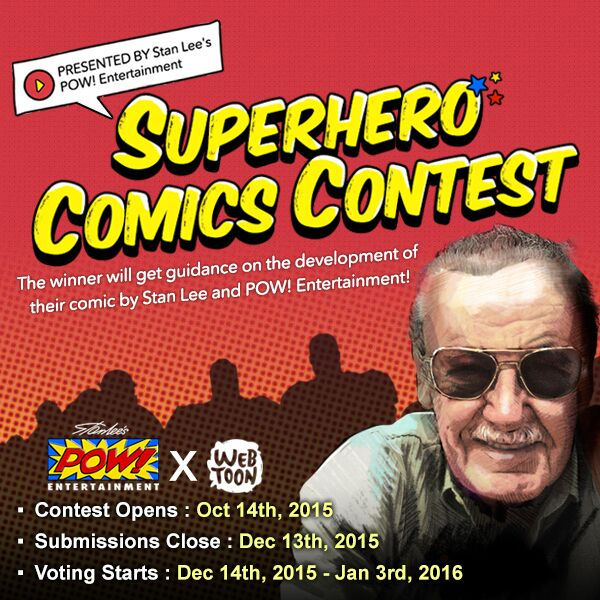 Stan Lee comics, Superhero Comix contest, comic books